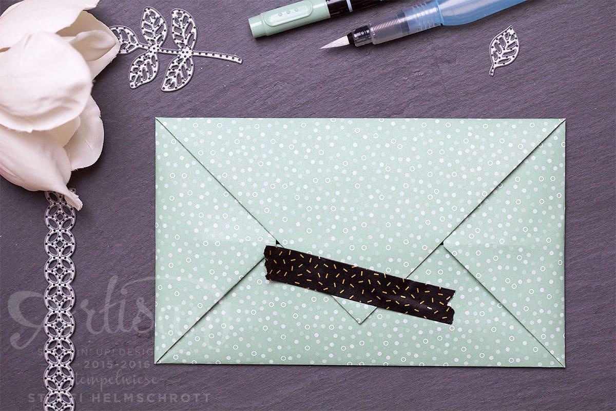 Origami Umschlag mit Washi Tape verschließen