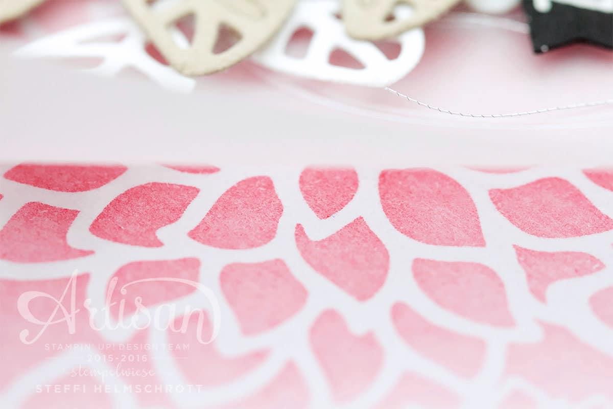 Geburtstagskarte Designerpapier Zauberhafte Blüten