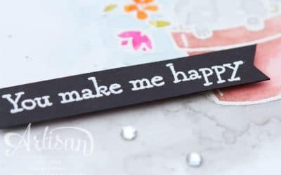 You make me happy – Grusskarte #gdp59