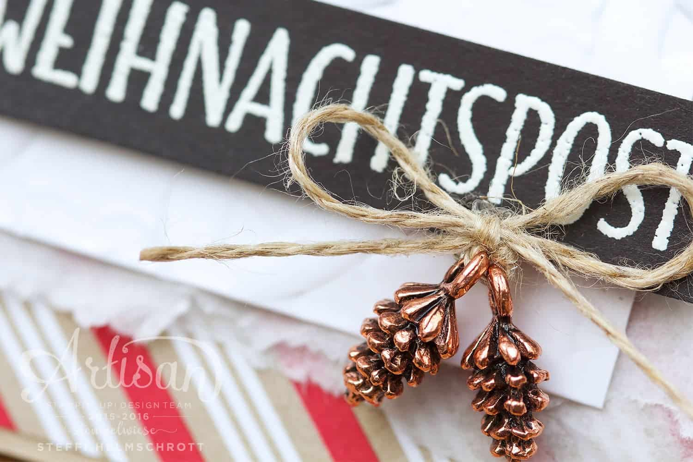 Weihnachtskarte Strickmuster / Zopfmuster Embossing