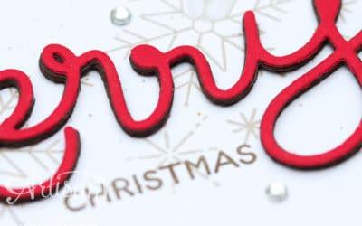 Weihnachtskarte mit 3D Schriftzug #gdp65