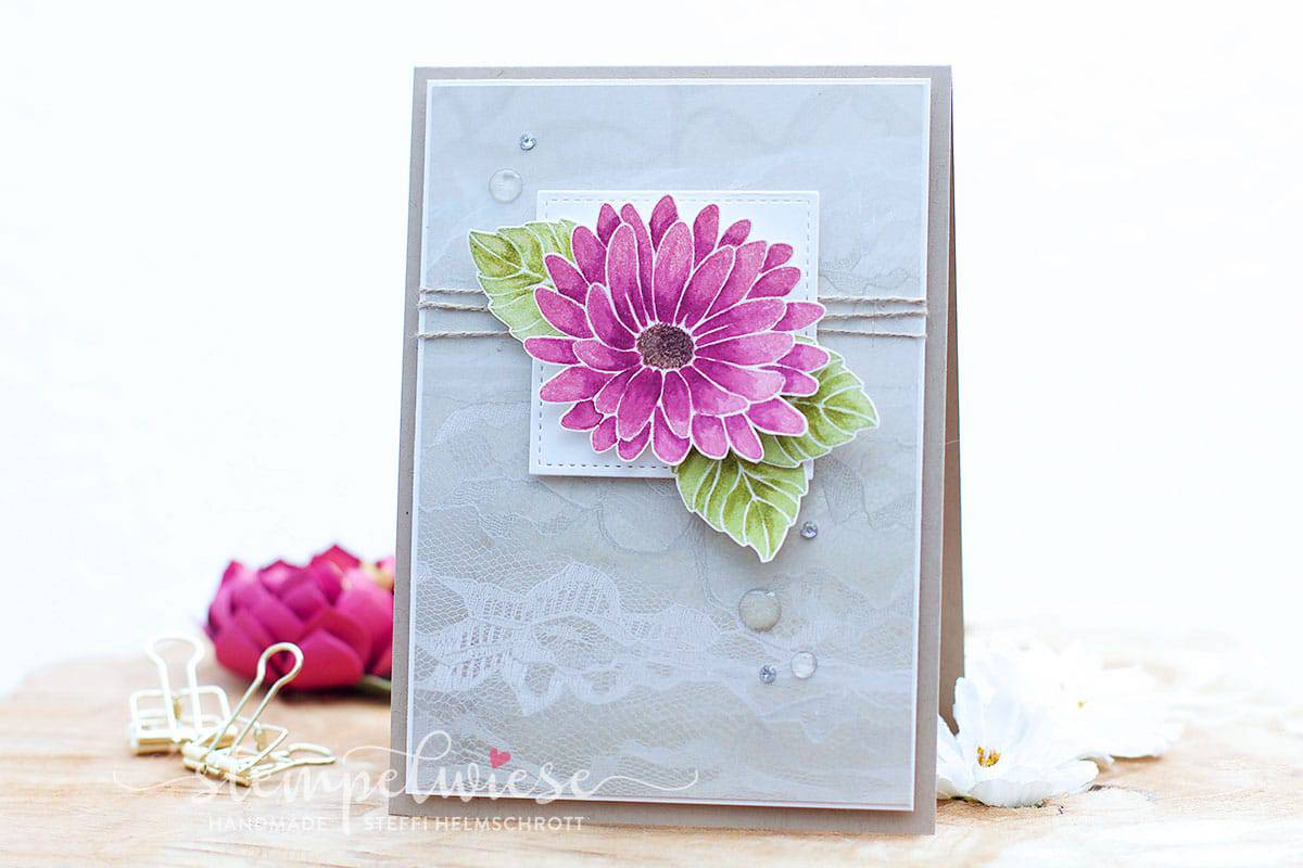 Grußkarte mit Blume - Aquarell - Besondere Grüße - Stampin' Up!