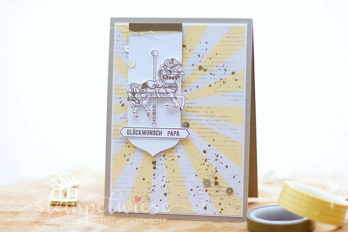 Geburtstagskarte - Carousel Birthday - Stampin' Up! - Stempelwiese