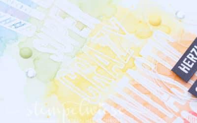 Geburtstagskarte mit Torte in Regenbogen (mit Video)