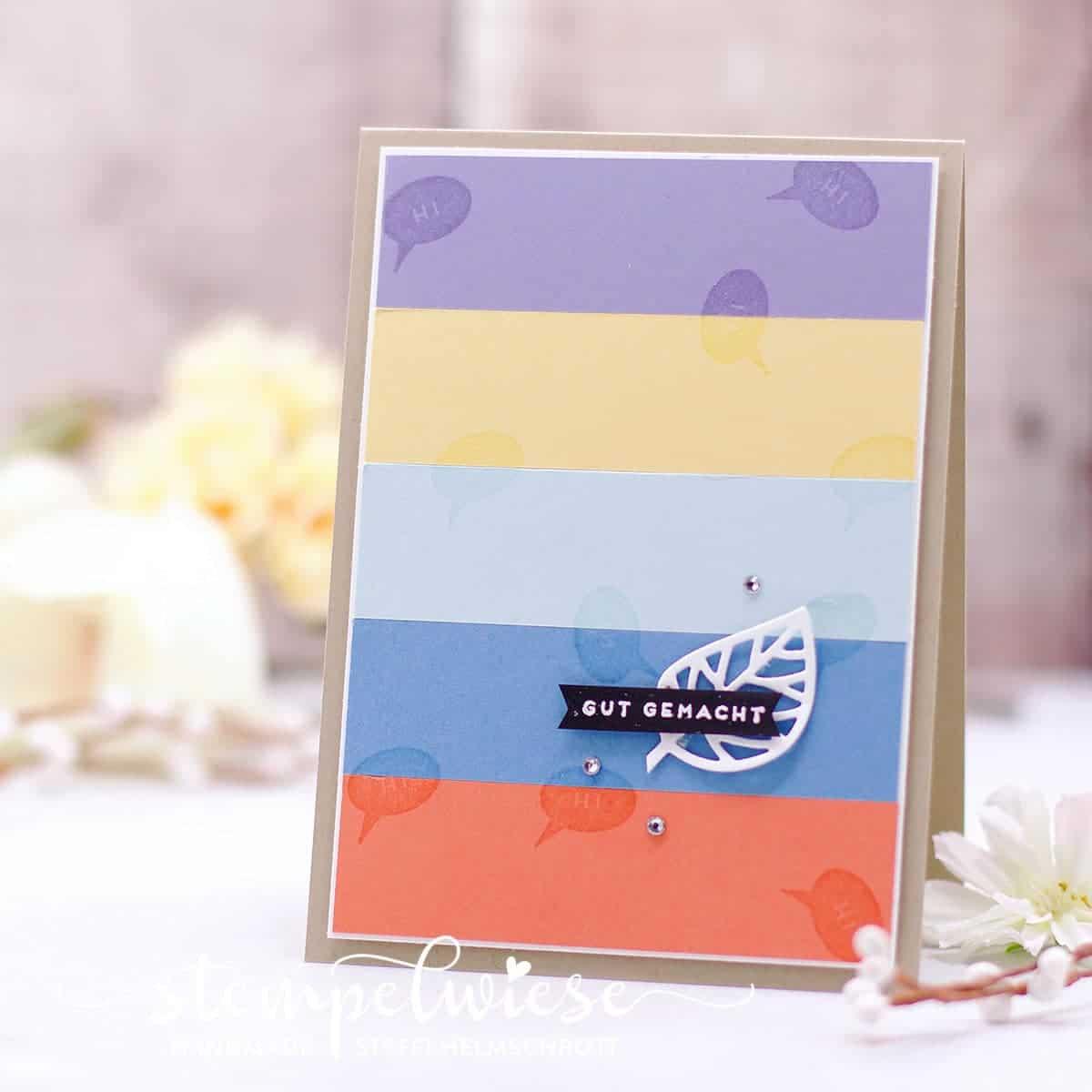 Grußkarte - Frühlingskarte mit Video - Stampin' Up! - Stempelwiese