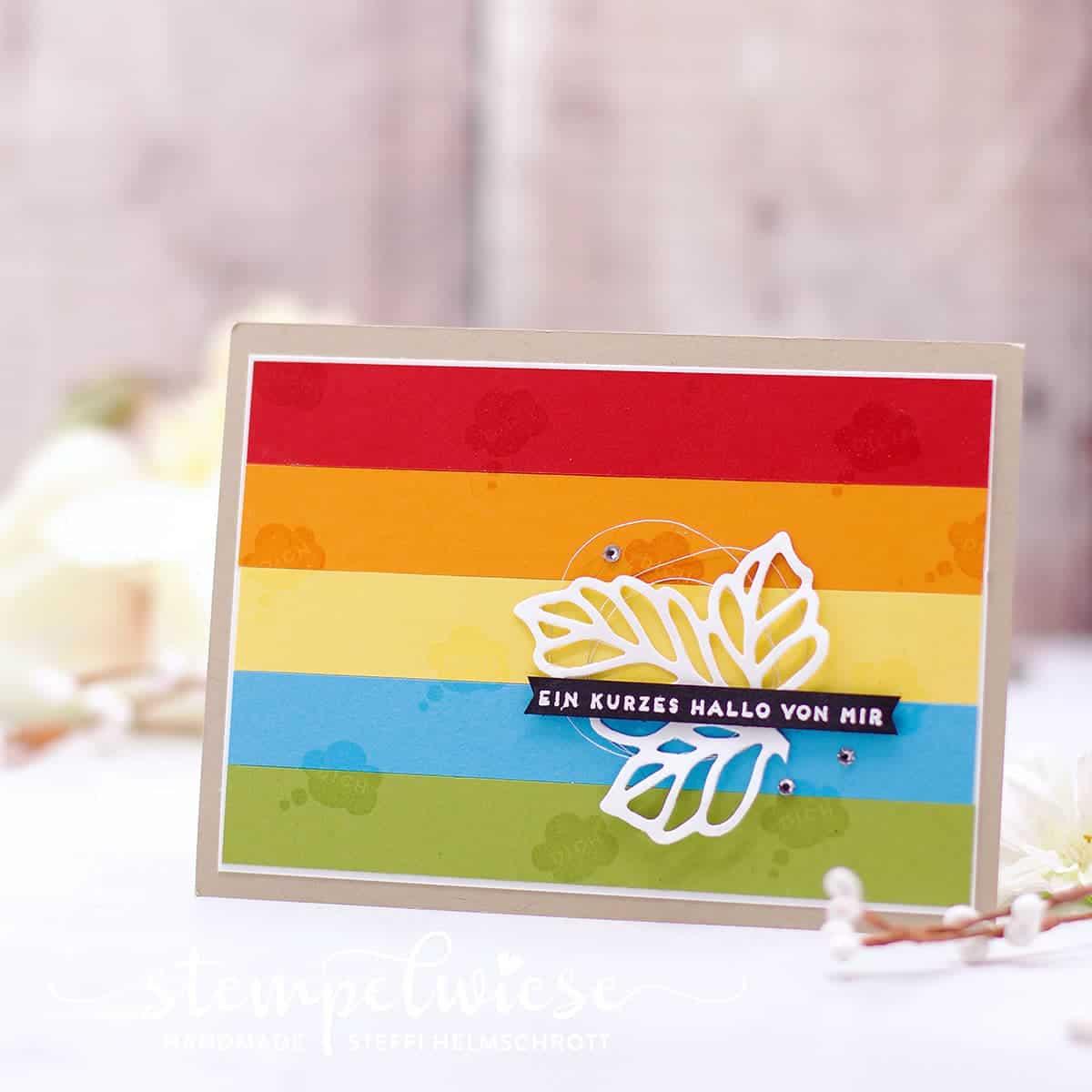 Grußkarte - Regenbogenfarben - Rainbow - Stampin' Up! - Stempelwiese