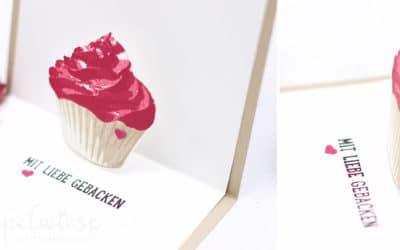 Geburtstagskarte mit Cupcake #GDP87