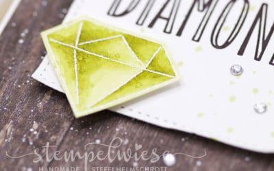 Grusskarte mit Diamanten (mit Video)