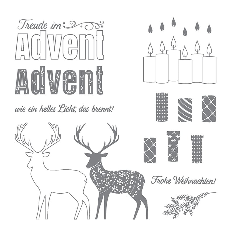 Freude im Advent Stempelset Deutsche Version