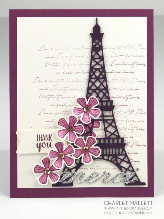 Geburtstagskarte mit Torte & Blumen 2