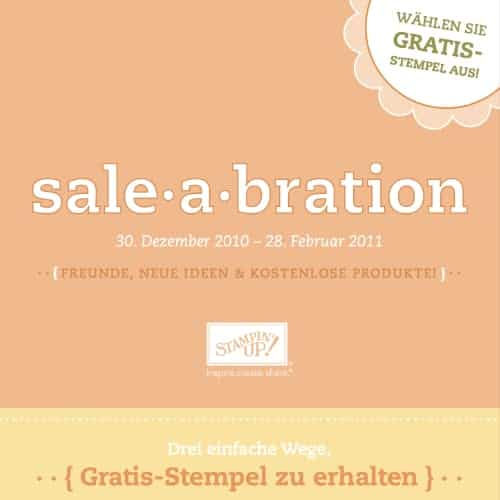Stampin' Up! Sale-A-Bration Broschüre 2010