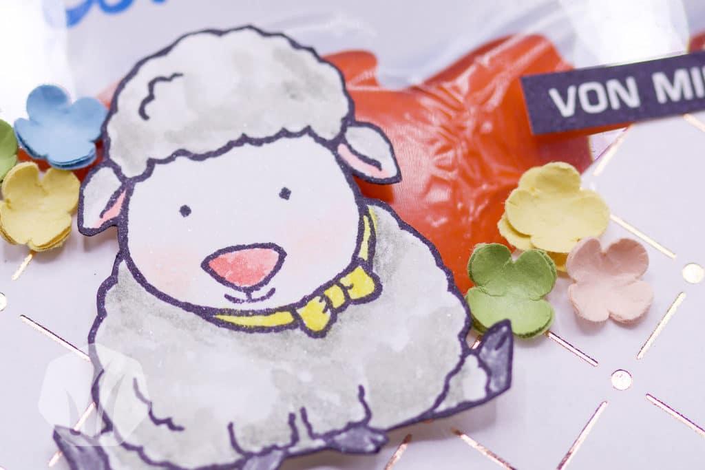 Ostergoodies: Geschenktüte Schäfchen Osterschatz Details