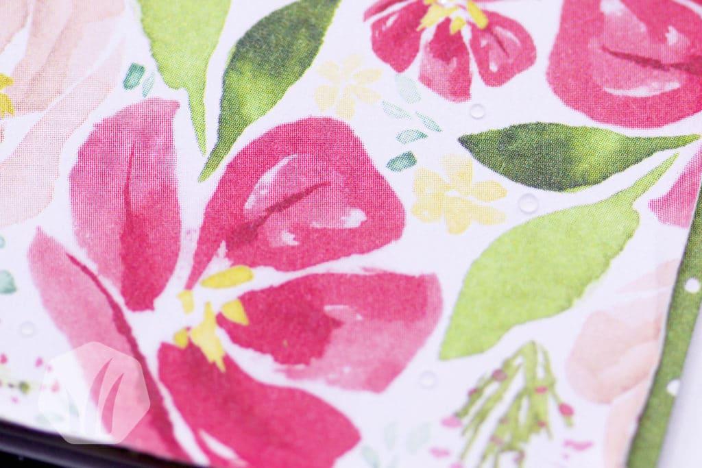 Stampin' Up! Glückwunschkarte Blumen: Detail Tupfer