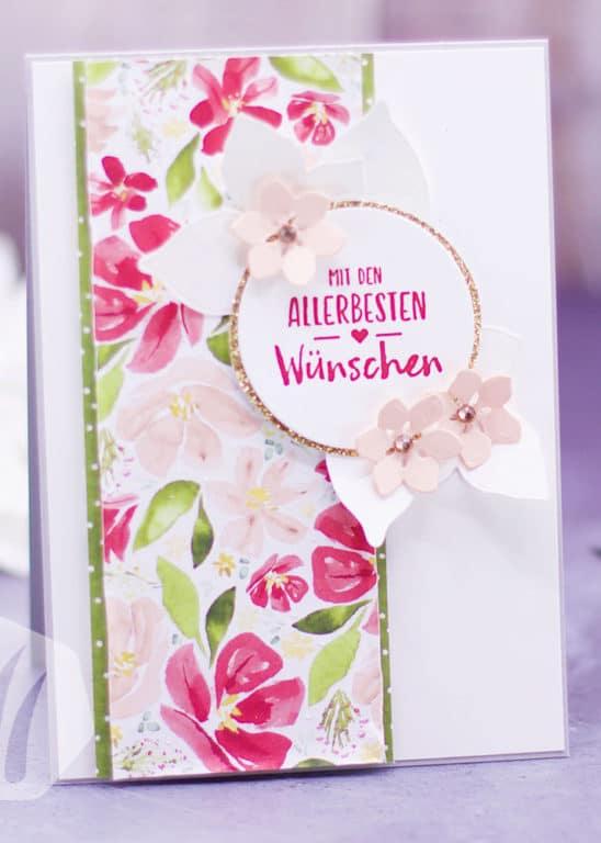 Stampin' Up! Glückwunschkarte Blumen
