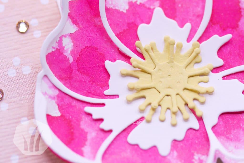 Schnelle Geburtstagskarte Mohnblütenzauber: Detail Blüte