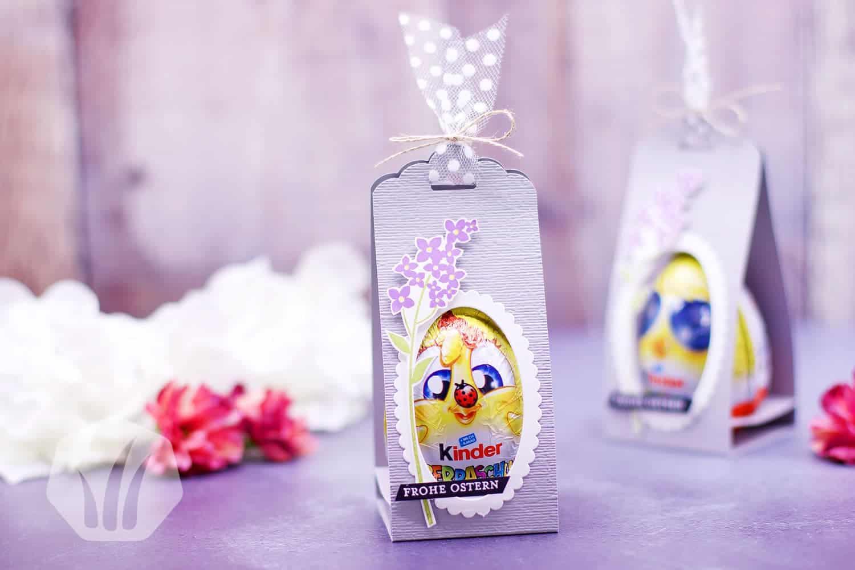 Überraschungsei verpackt für Ostern