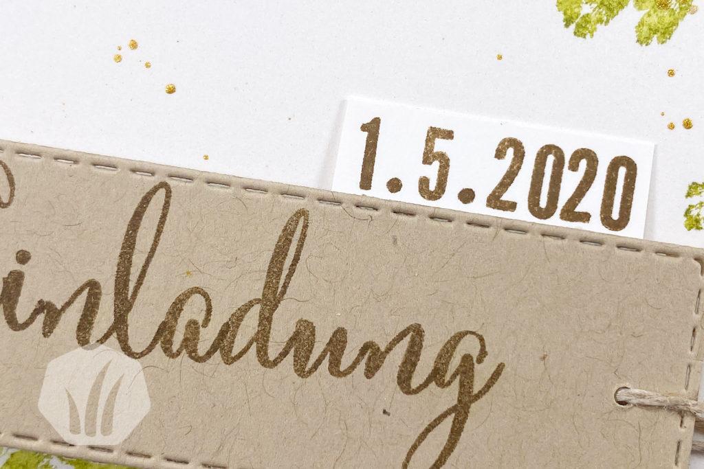 Hochzeitseinladung Hochzeitskarte Detail Text