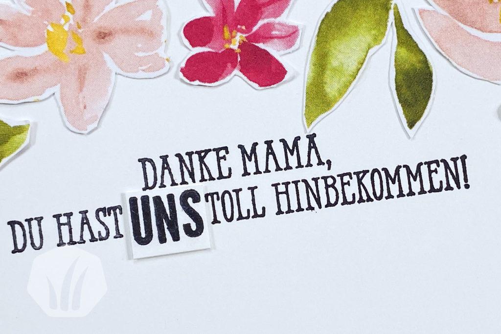 Blumige Muttertagskarte mit Verschluss 1
