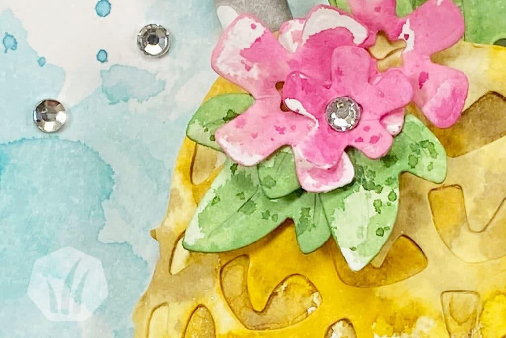 Karte Cocktail Einladung Ananas Blume