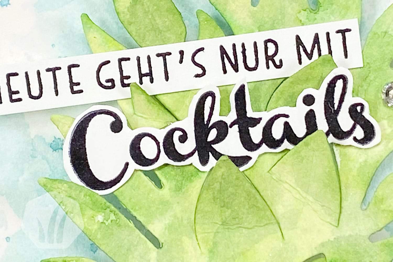 Karte Cocktail Einladung Ananas Schriftzug