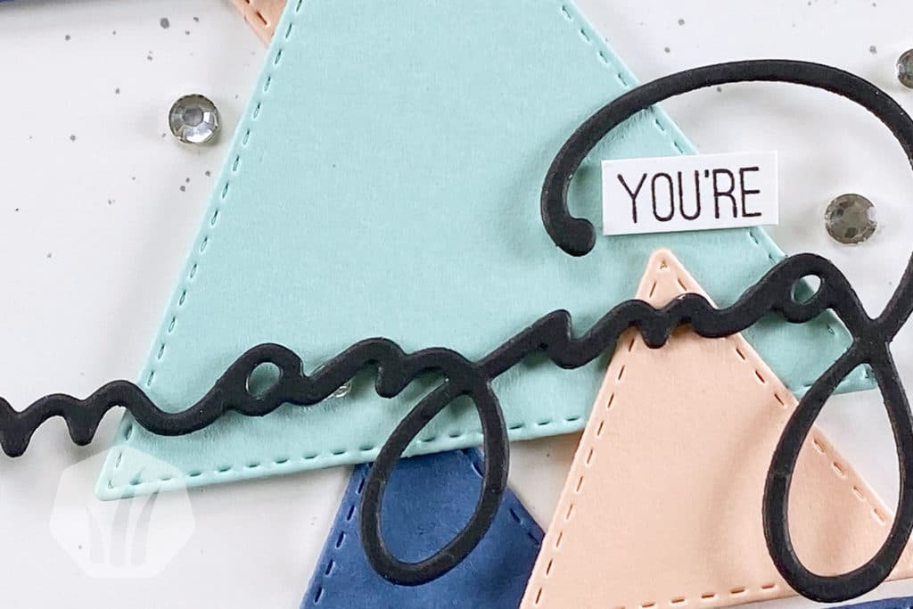 Youre Amazing Triangle Karte Detail Text