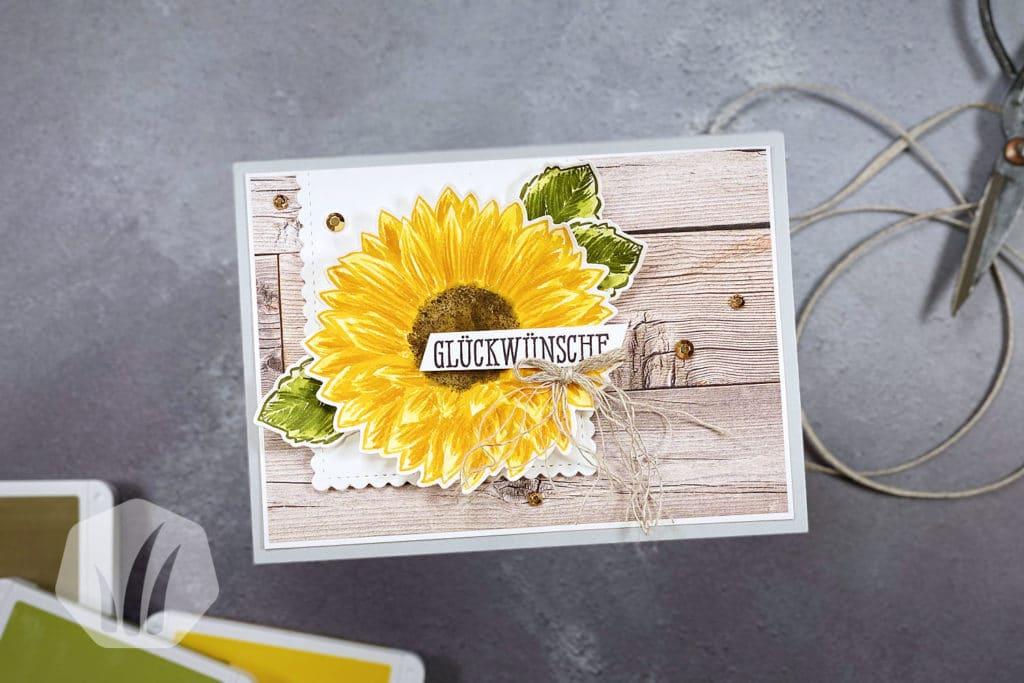 Grußkarte: Gute Laune Gruss mit Sonnenblume