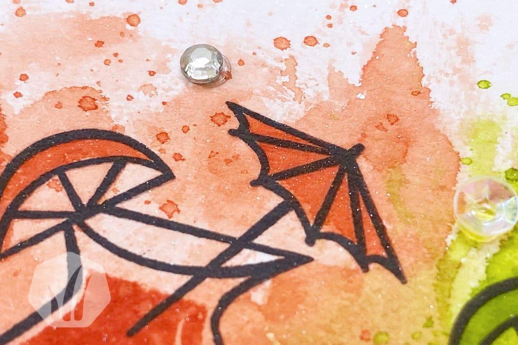 Einladungskarte zum Mädelsabend mit Cocktails Detail