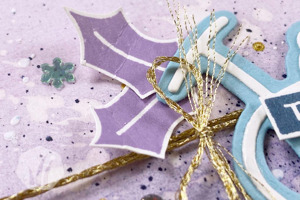 Weihnachtskarte Joy: Schleife