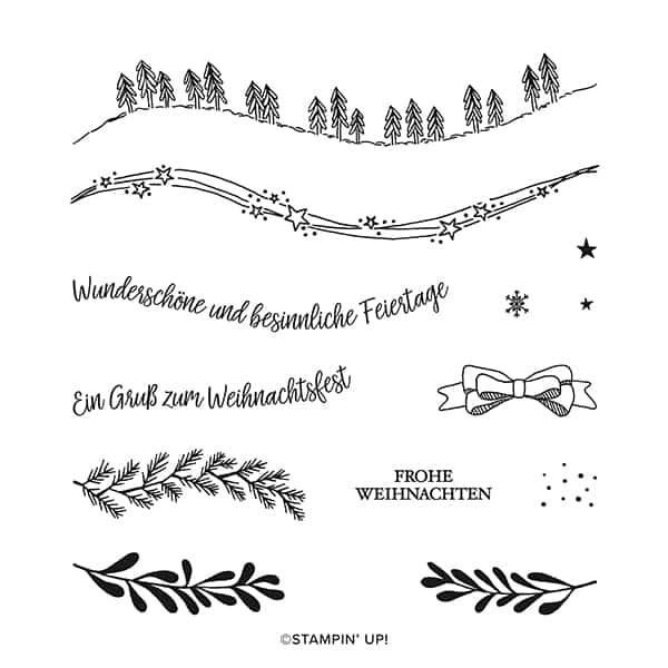 Klarsichtstempelset Geschwungene Weihnachten