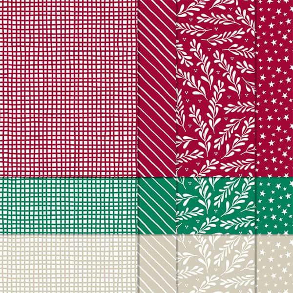 Designerpapier Klassische Weihnachten