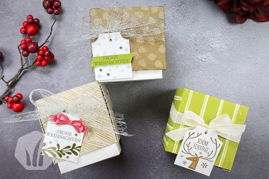 Santa Claus Box Origami Varianten