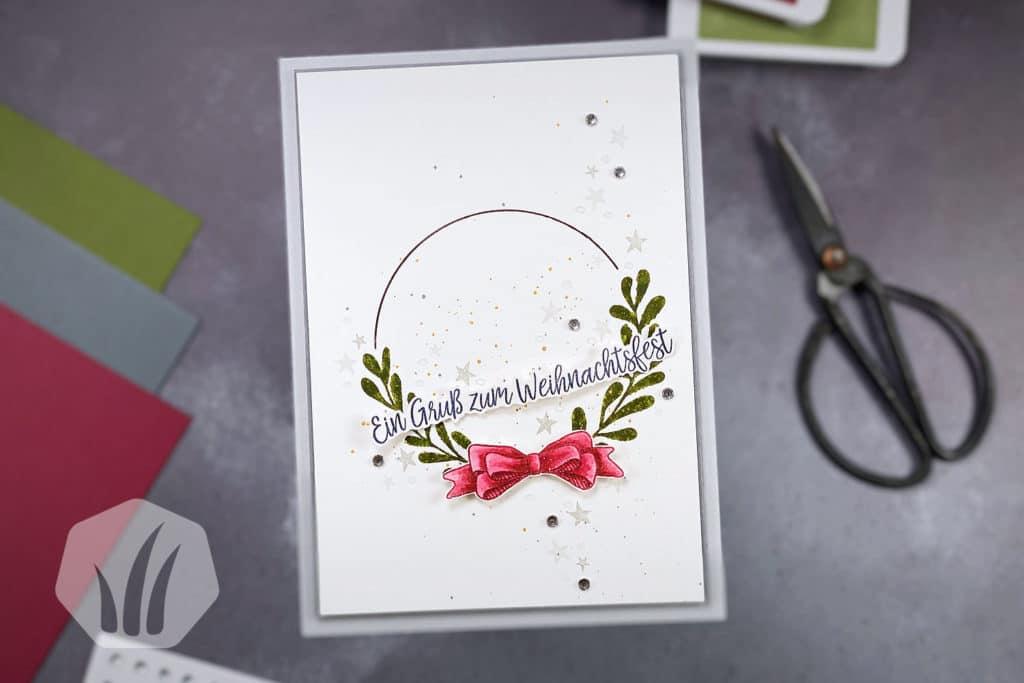 Weihnachtskarte: Geschwungene Weihnachten