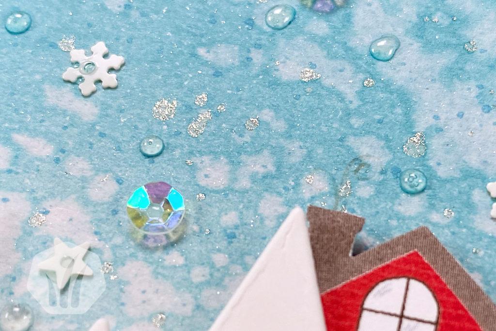 Weihnachtskarte: Weihnachtspost Adventsstädtchen Hintergrund