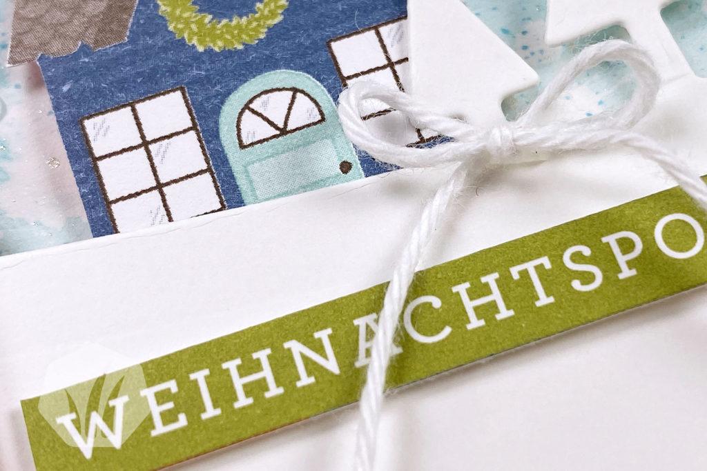 Weihnachtskarte: Weihnachtspost Adventsstädtchen Text