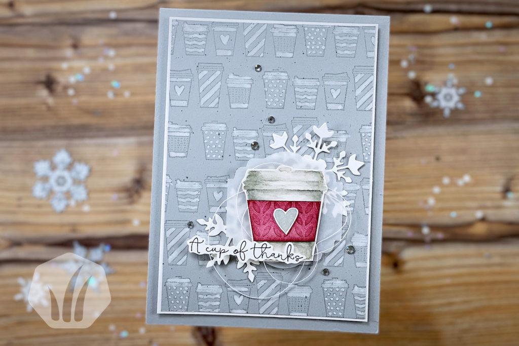 Kaffeebecher Dankeskarte