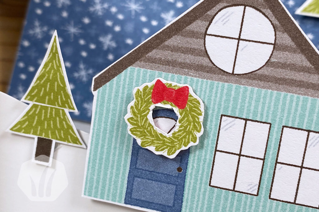 Stufenkarte Weihnachten Haus