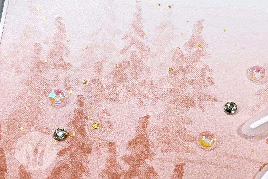 Weihnachtskarte Winterwald Joy To The World Hintergrund