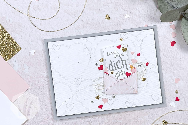 Valentinskarte: Liebe Briefpost