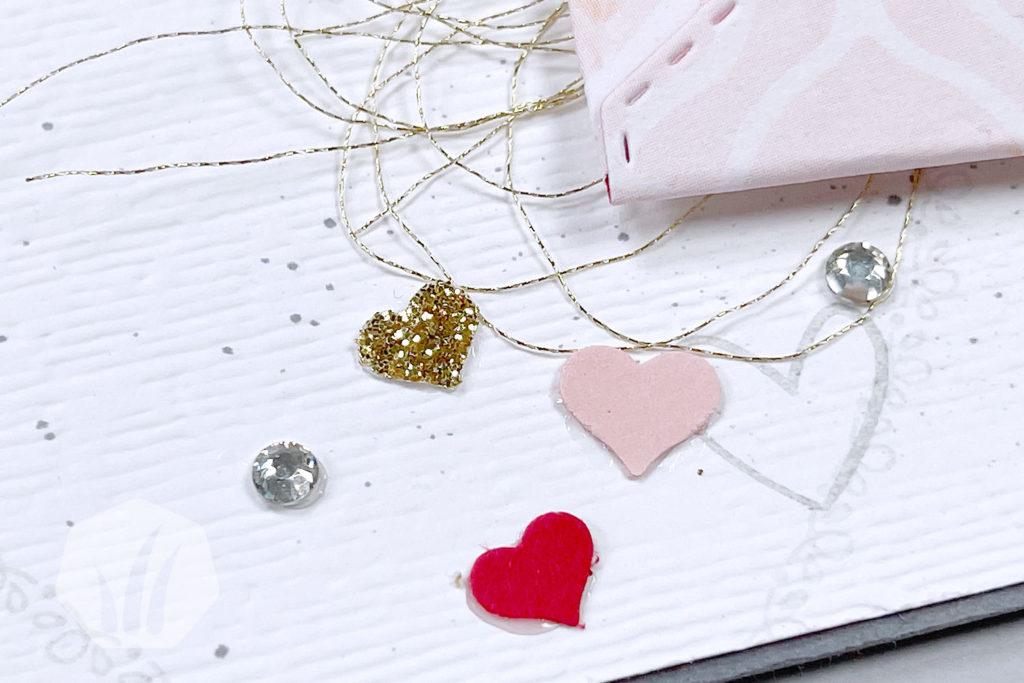 Valentinskarte: Liebe Briefpost Herz