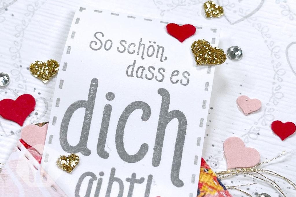 Valentinskarte: Liebe Briefpost Text