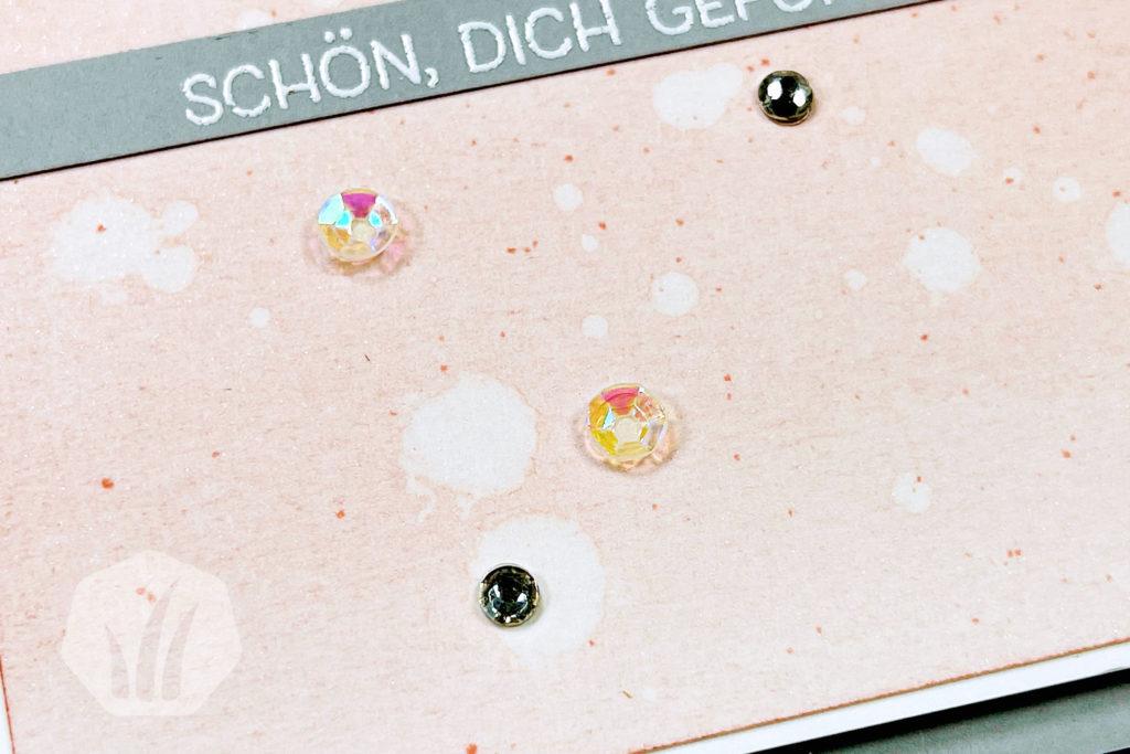 Grußkarte Hallo mit Blattgold Hintergrund