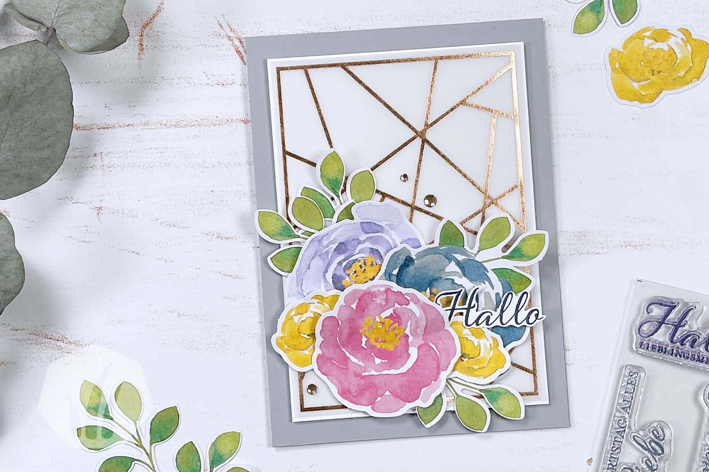 Hallo Grußkarte Kartenkit Lieblingsgrüsse