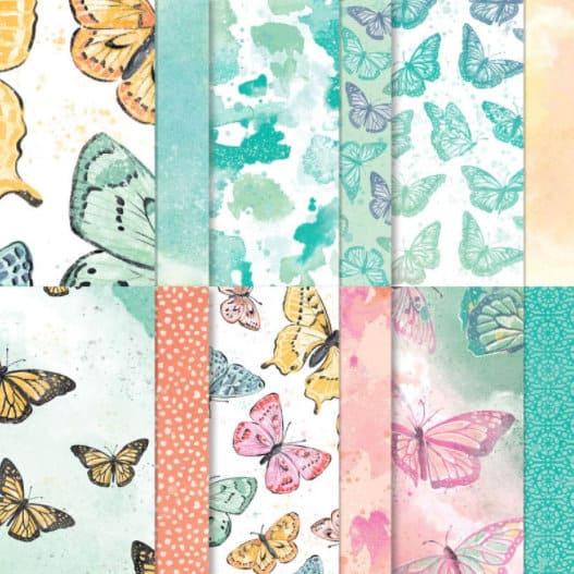 Designerpapier Schmetterlingsschmuck