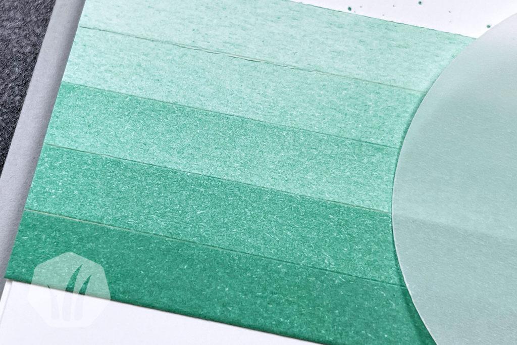 Geburtstagskarte mit Ombre Verlauf mit Aventurin Hintergrund
