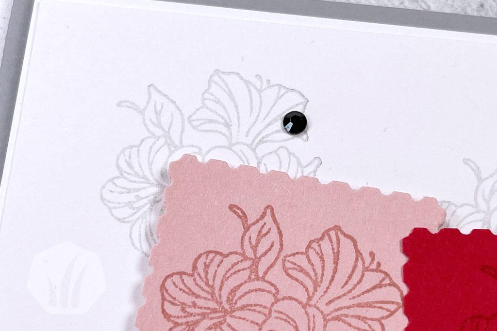 Geburtstagskarte: Posted For You, Detail Briefmarke