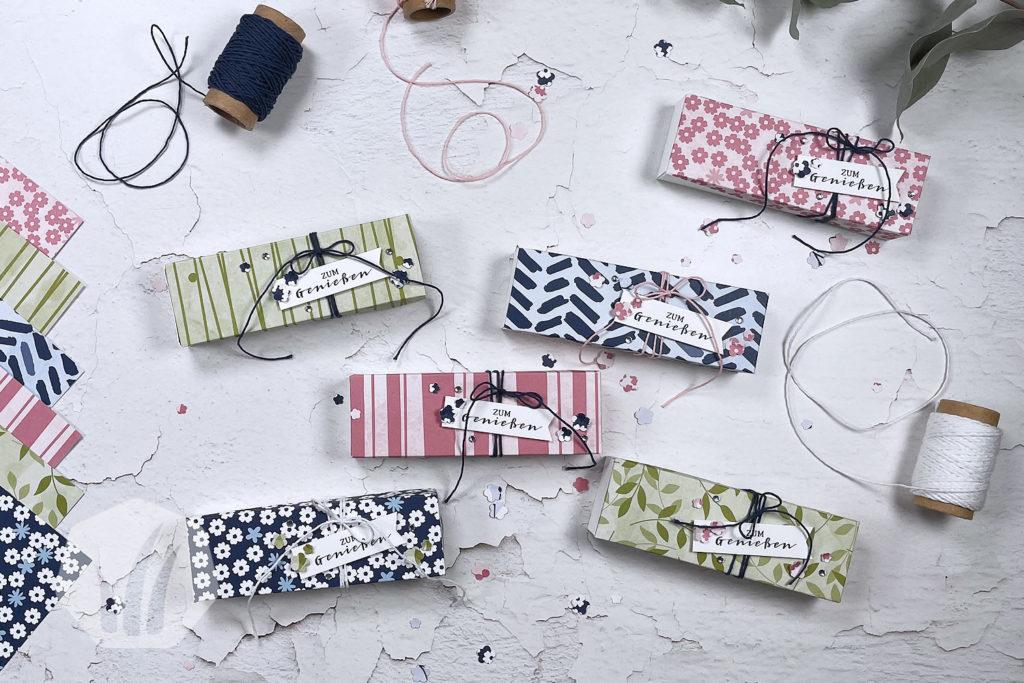 Verpackung: Diagonaler, schräger Deckel