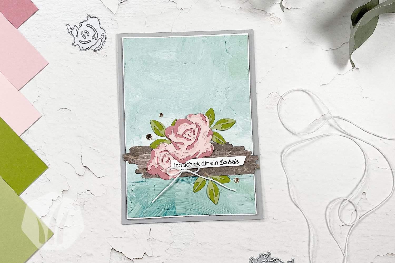 Romantische Grußkarte: Wie gemalt!