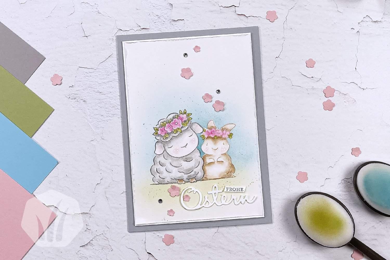 Osterkarte Maskierungstechnik Springtime Joy
