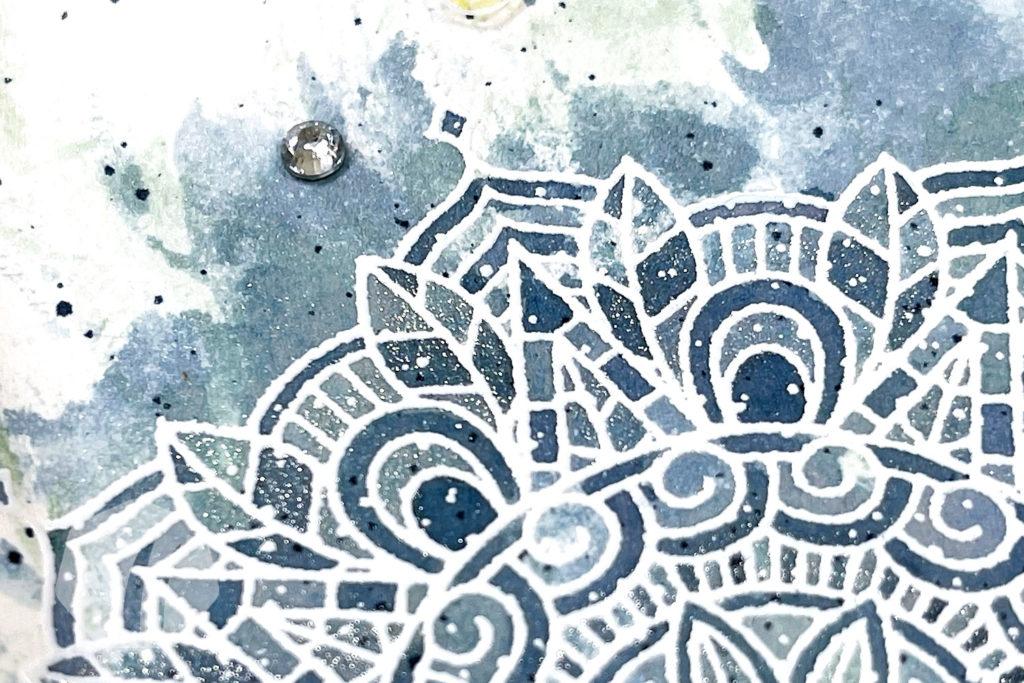 Glückwunschkarte: Beste Wünsche mit Treasured Medallion Detail Hintergrund