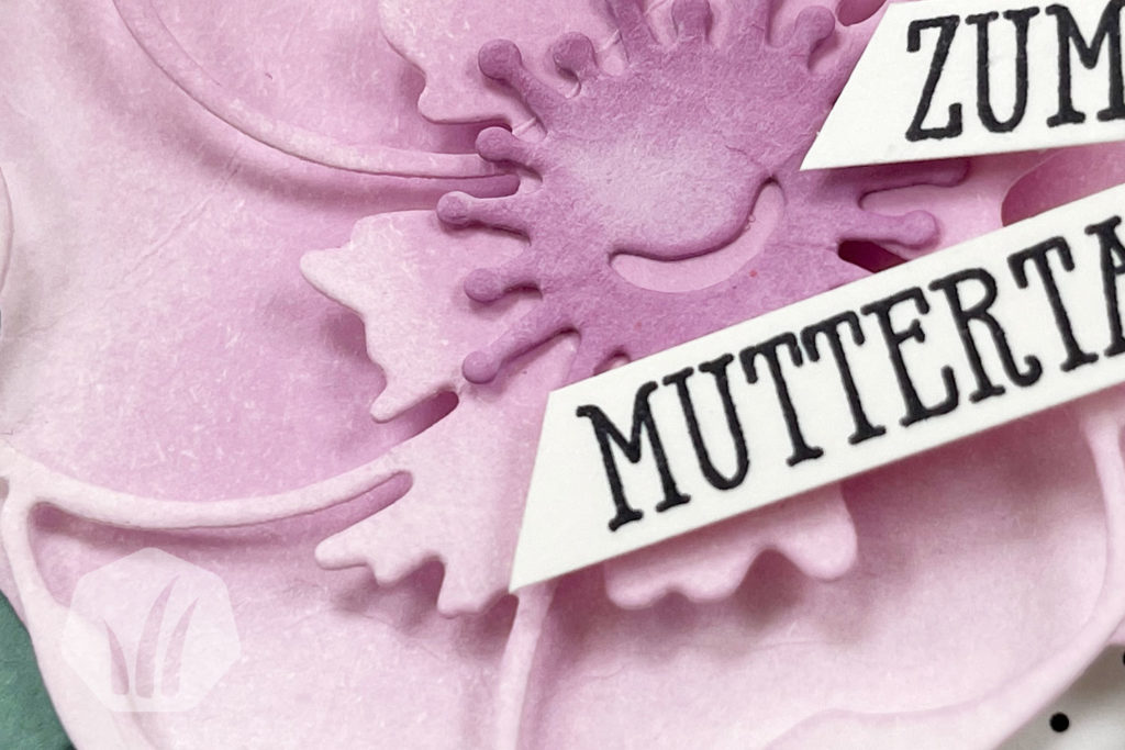 Popup Muttertagskarte, Detail Blume
